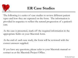 ER Case Study