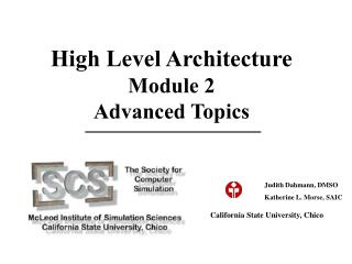 High Level Architecture Module 2 Advanced Topics