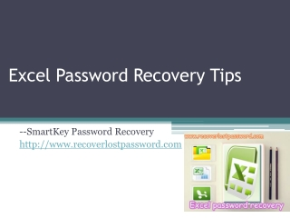 Excel Password Recovery Tips