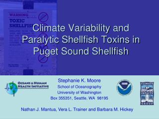 Climate Variability and Paralytic Shellfish Toxins in Puget Sound Shellfish