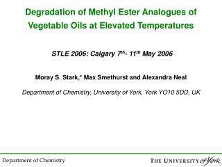 Oxidation of Methyl Esters