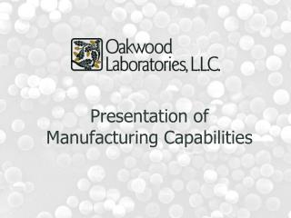 Presentation of Manufacturing Capabilities