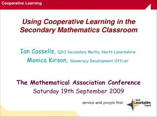 Using Cooperative Learning in the Secondary Mathematics Classroom