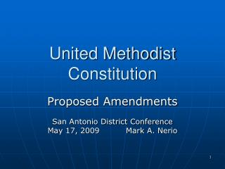 United Methodist Constitution