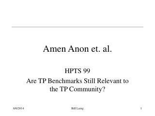 Amen Anon et. al.