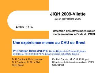 JIQH 2009-Vilette 23-24 novembre 2009