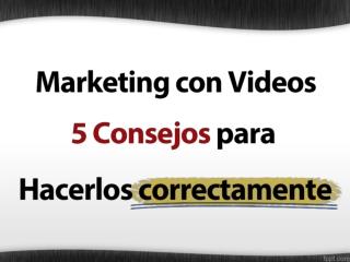 Marketing con Videos - Conviérte en un Profesional