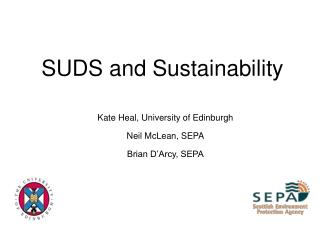 SUDS and Sustainability