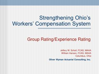 Strengthening Ohio