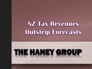 NZ Tax Revenues Outstrip Forecasts