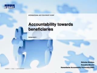 Accountability towards beneficiaries