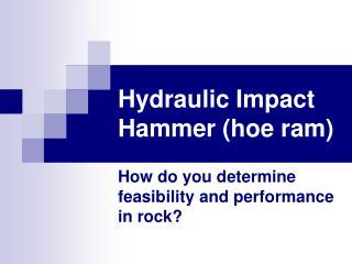 Hydraulic Impact Hammer hoe ram