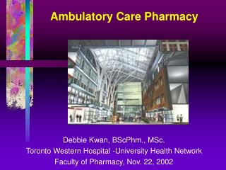 Ambulatory Care Pharmacy