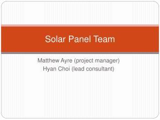 Solar Panel Team