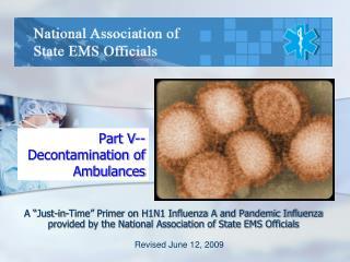 Part V--Decontamination of Ambulances