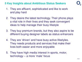 5 Key Insights about Ambitious Status Seekers
