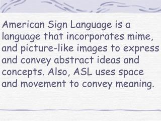 Sign Language hand formations