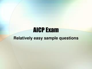 AICP Exam
