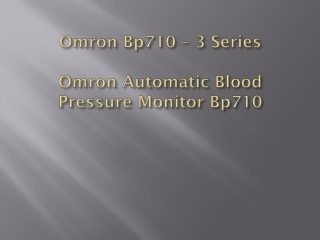 Omron Bp710 – 3 Series