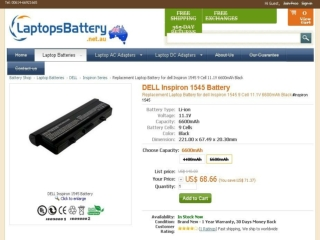 Dell Inspiron 1545 Battery Has Decent Powerful Performance