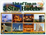 Delhi 5 Star Hotels list