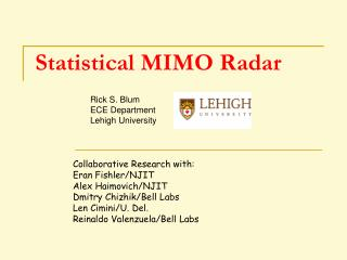 Statistical MIMO Radar
