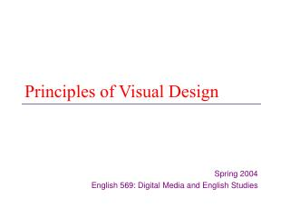 Principles of Visual Design