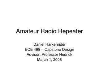 Amateur Radio Repeater