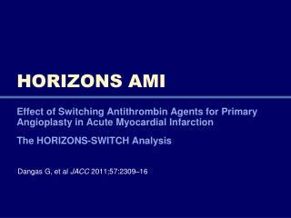 HORIZONS AMI