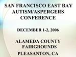 SAN FRANCISCO EAST BAY AUTISM