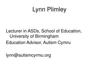 Lynn Plimley