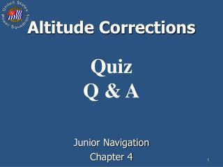 Altitude Corrections