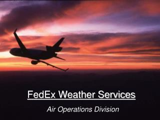 FedEx Weather Services