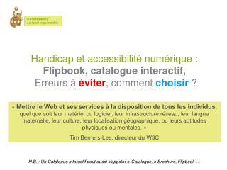 Cr??er un Catalogue virtuel accessible - E-accessibility