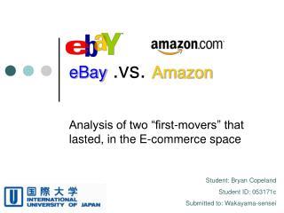 EBay .vs. Amazon