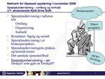 Nettverk for tilpasset oppl ring 1.november 2006 Spesialundervisning   omfang og innhold  v