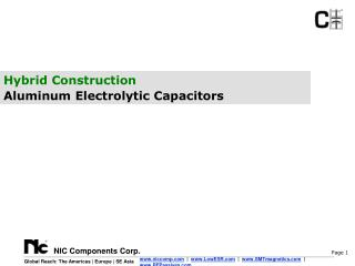 Hybrid Construction  Aluminum Electrolytic Capacitors