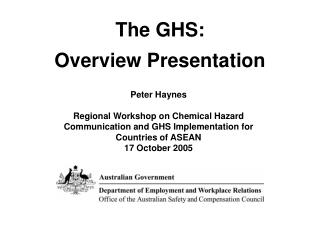 The GHS:  Overview Presentation