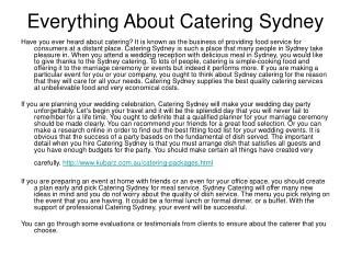 Sydney Catering