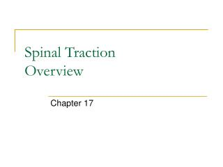 Spinal Traction Overview