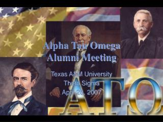 Alpha Tau Omega Alumni Meeting