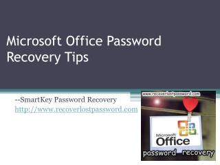 Microsoft Office Password Recovery Tips