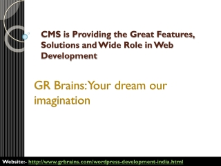 CMS is Providing the Great Features, Solutions and Wide Role