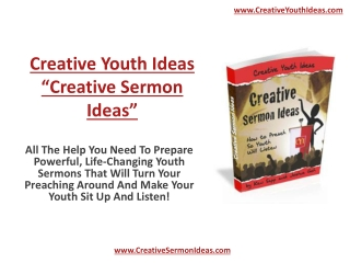 Creative Sermon Ideas