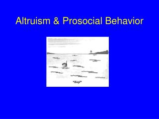 Altruism  Prosocial Behavior