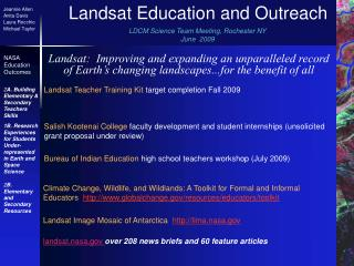 Landsat Education and Outreach