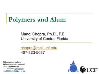 Polymers and Alum