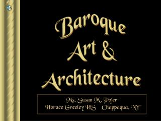 Baroque Art  Architecture