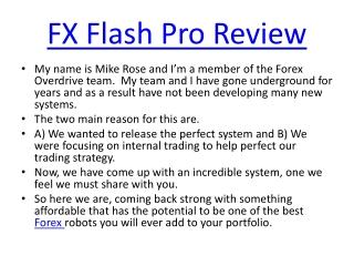 FX Flash Pro Review