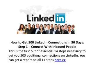 Hot to Get 500 LinkedIn Connections in 30 days